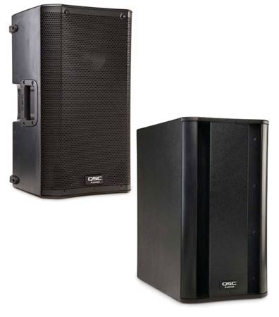 QSC K10 and KSUB Combo Active PA Loudspeaker Package