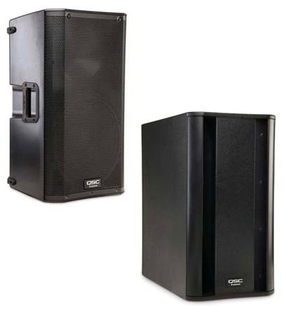 QSC K12 and KSUB Combo PA Active Loudspeaker Package