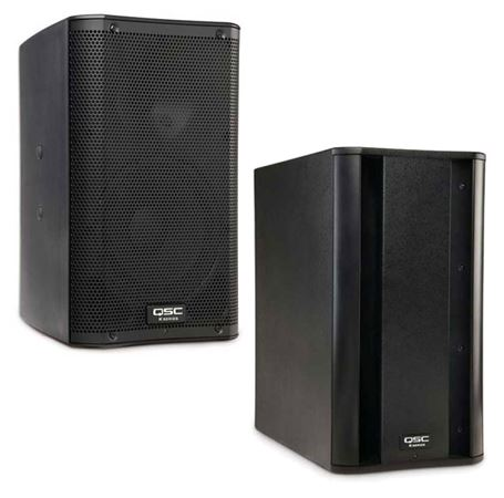 QSC K8 and KSUB Combo PA Speaker Package