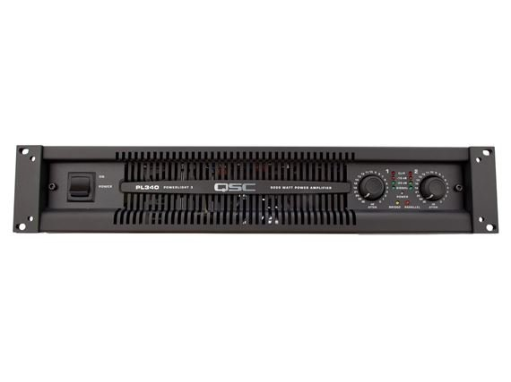 QSC PL340 1250 Watt Two Channel PowerLight 3 Power Amplifier
