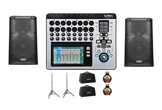 QSC TouchMix 16 Digital Mixer With K10 Powered Loudspeaker Pair Pack