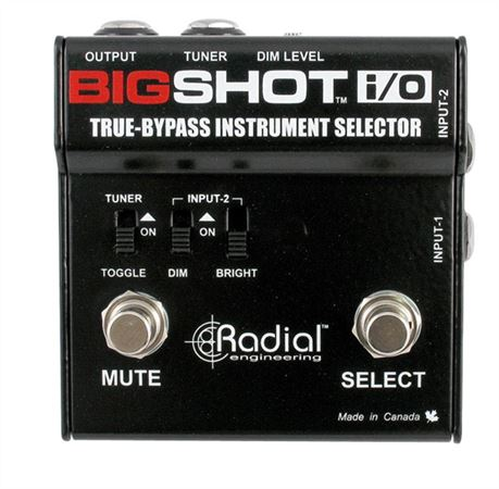 Radial Big Shot IO True Bypass Instrument Selector Pedal