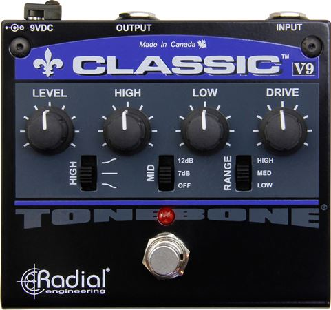 Radial Tonebone Classic V9 Distortion Overdrive Guitar Pedal