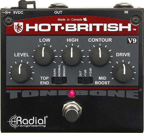 Radial Tonebone Hot British V9 High Gain Plexi-Style Distortion Pedal