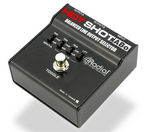 Radial Hot Shot ABO Mic And Line Output Switcher Pedal