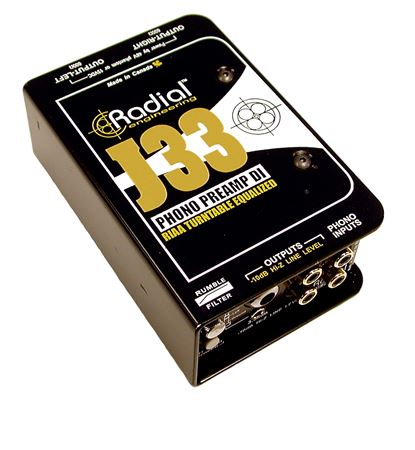 Radial J33 DJ Phono Preamp Active Direct Box