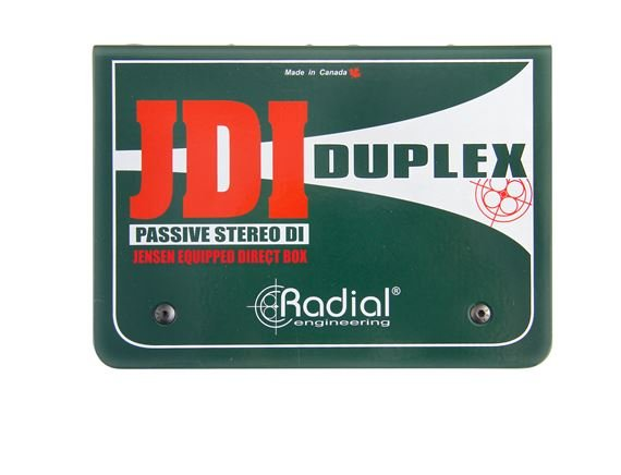 Radial JDI Duplex Stereo Passive Direct Box