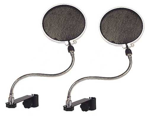 Raxxess Microphone Pop Filter 2 Pak