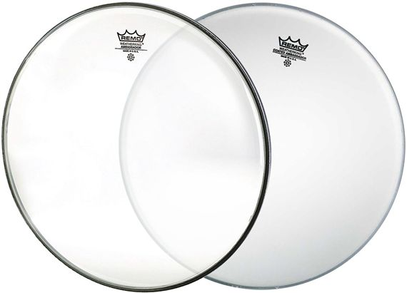 Remo Ambassador Coated Batter Drum Head with Hazy Snare Side