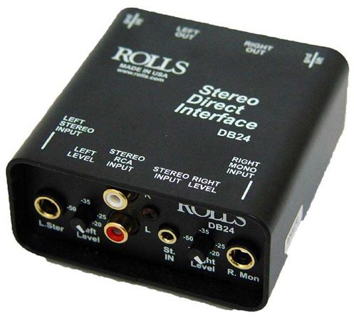 Rolls DB24 Stereo Passive Direct Box