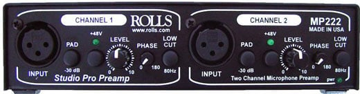Rolls MP222 Studio Pro Microphone Preamp