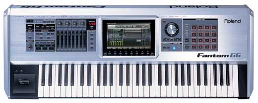 Roland Fantom G6 61 Key Synth Workstation Sampler Keyboard