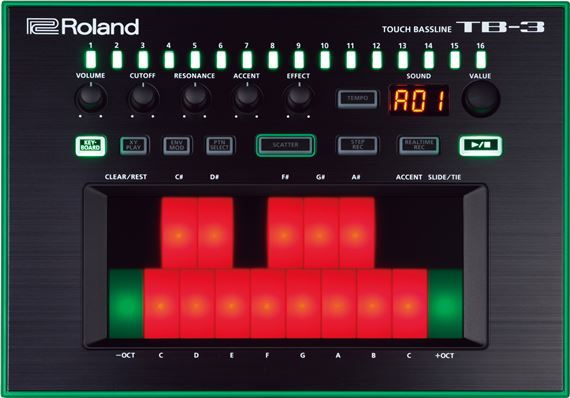 Roland Aira TB3 Touch Bassline Synthesizer