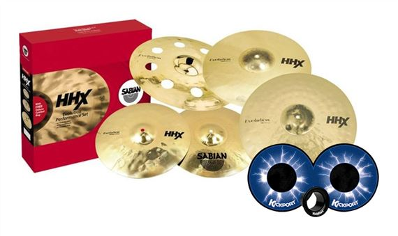 Sabian HHX Evolution Value Added Cymbal Set Brilliant Finish