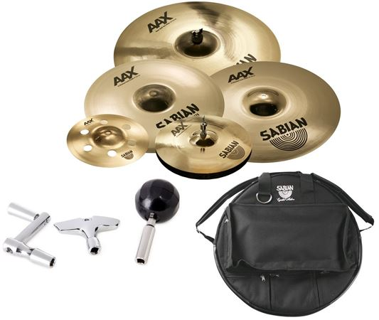 Sabian AAX/Xplosion Set 21/14/17/19/10/Bag/Trio