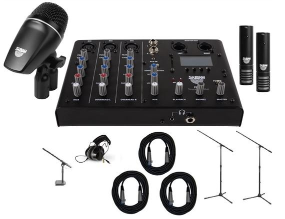 Sabian SSKIT Sound Kit With Mics Stands x3 Cables x3 Headphones