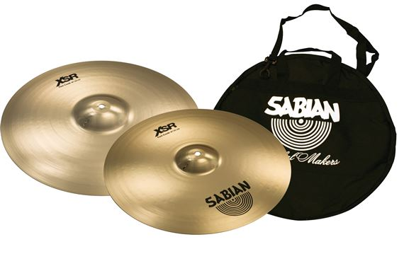 Sabian XSR 16/18 Fast Crash Value Bundle Sabian Cymbal Bag