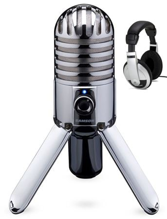 Samson Meteor USB Microphone and HP30 Headphones Pack