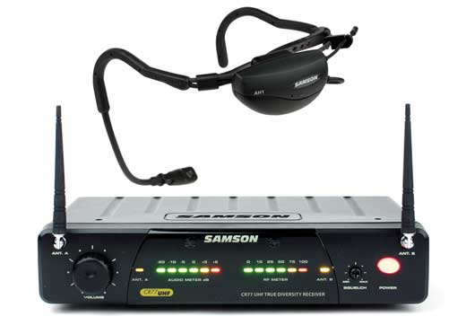 Samson AirLine 77 UHF TD Headset Wireless QE Mic System