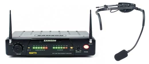 Samson AirLine 77 UHF TD Headset Wireless QV10e Mic System