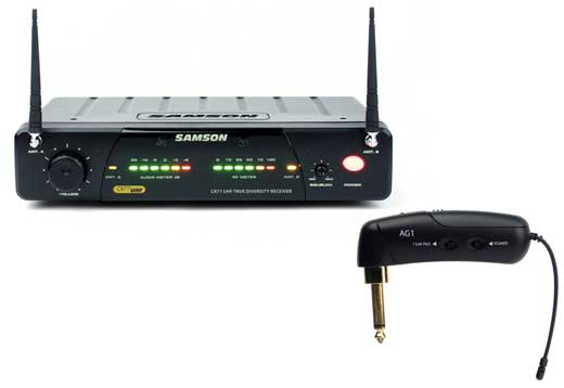 Samson AirLine 77 UHF TD Wireless Guitar System With AG1