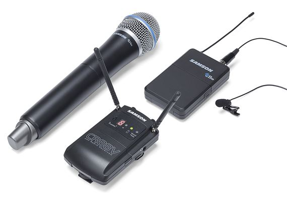 Samson Concert 88 UHF Camera Wireless Q8 and LM10 Lav System