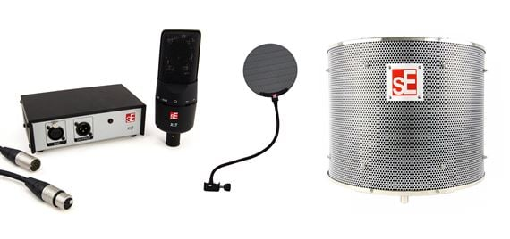SE Electronics X1T Microphone Studio Bundle With Reflexion Filter Pro