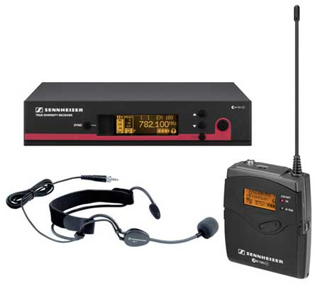 Sennheiser Evolution G3 100 UHF Wireless Headset Mic System