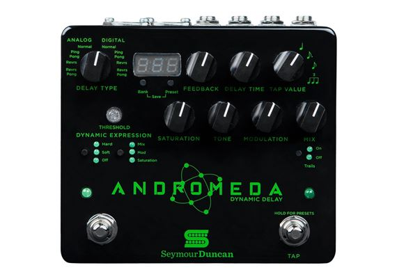 Seymour Duncan Andromeda Dynamic Digital Delay Effects Pedal