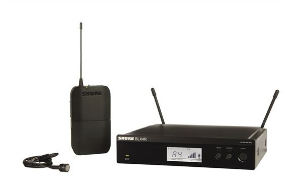 Shure BLX 14RW85 Rackmountable Lapel Wireless Mic System