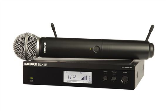 Shure BLX 24RSM58 Rackmountable Handheld Wireless System with SM58