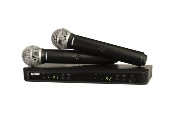 Shure BLX 288PG58 Dual Handheld Wireless Microphone System