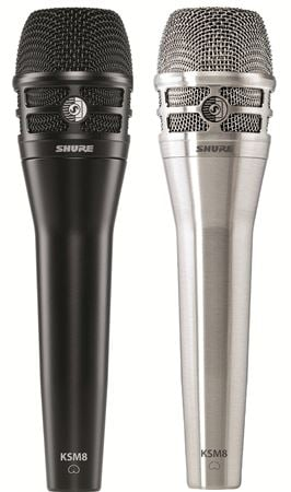 Shure KSM8/B DualDyne Cardioid Dynamic Handheld Vocal Microphone