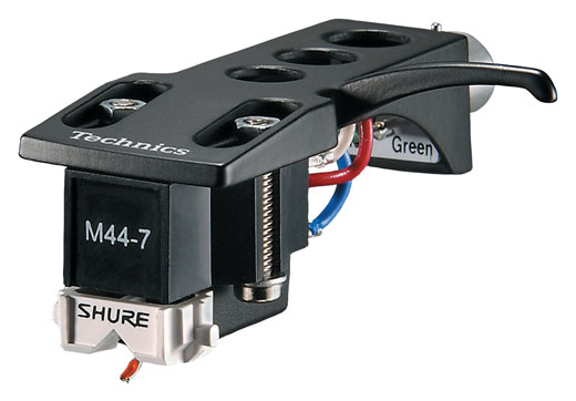 Shure M44-7-H Technics Headshell-Mounted DJ Turntable Cartridge