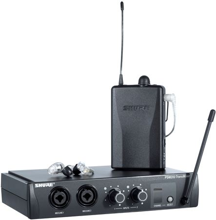 Shure P2TR215CLH2 PSM200 Wireless In Ear Monitor System