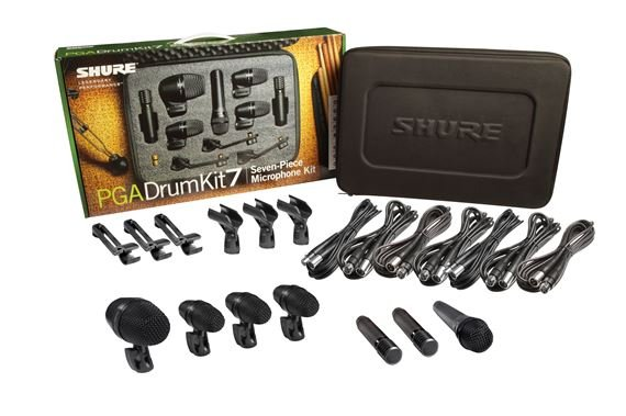 Shure PGADrumKit7 Alta 7-Piece Drum Mic Kit With Case