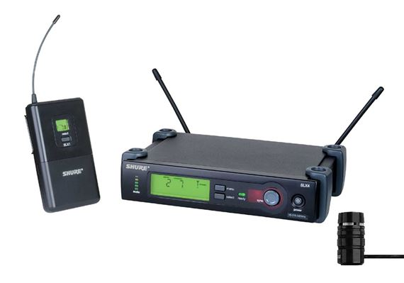 Shure SLX UHF Lapel Wireless Mic System with WL185 Mic