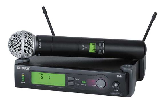 Shure SLX UHF Handheld Wireless Microphone System with SM 58
