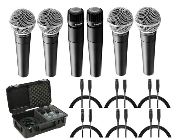 Shure SM57 and SM58 Mic Pack w/Cables and Case