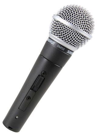 Shure SM58S with Switch Dynamic Vocal Microphone