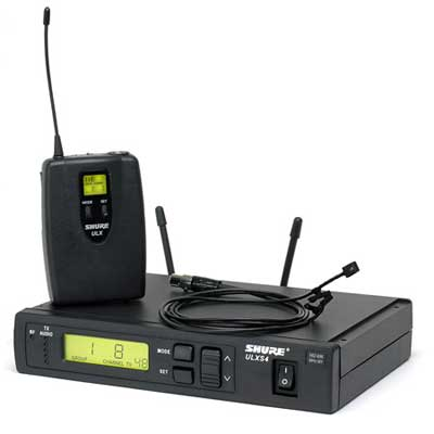 Shure ULX Standard UHF Lapel Wireless Mic System with WL93 Mic