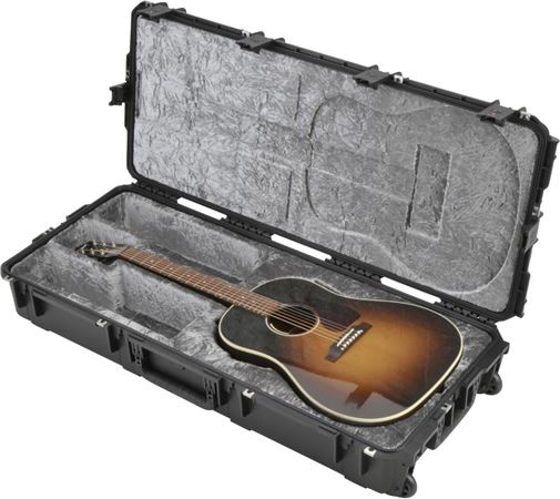 SKB 3I Waterproof Acoustic Guitar  Case with Wheels