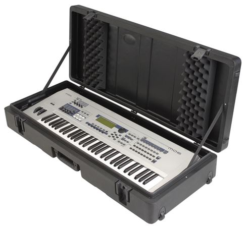SKB R4215W Roto Molded Keyboard Case with Wheels