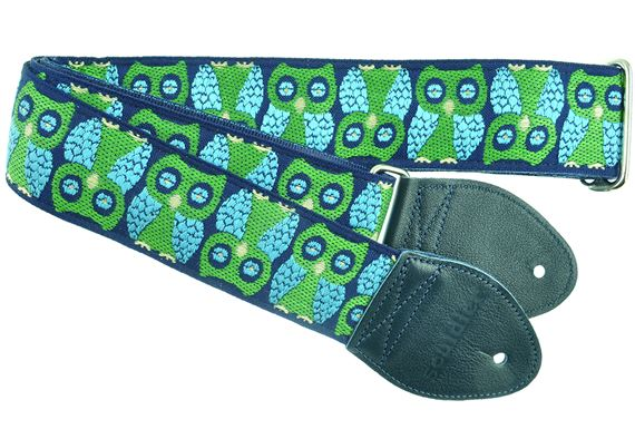 "Souldier 2"" Seatbelt Guitar Strap Navy Owls"