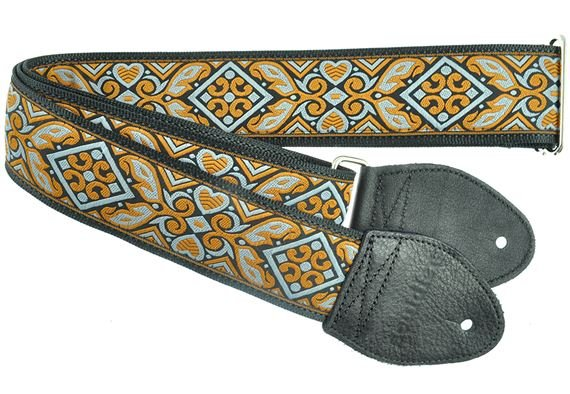 "Souldier 2"" Seatbelt Guitar Strap Haida Gray"