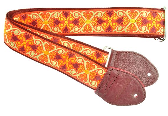 "Souldier 2"" Seatbelt Guitar Strap Constantine Orange"