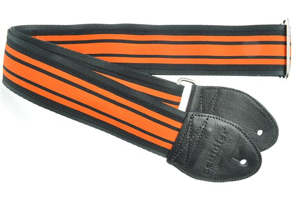 "Souldier 2"" Seatbelt Guitar Strap Shelby Black/Orange"