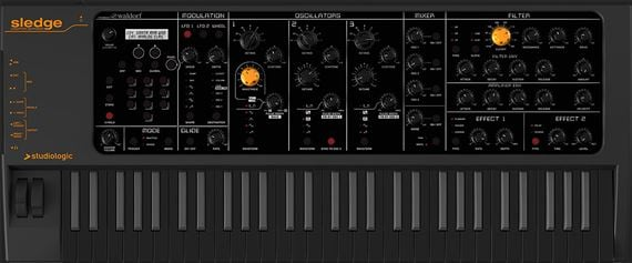 Studiologic Sledge 2 Black Edition Virtual Analog Synthesizer