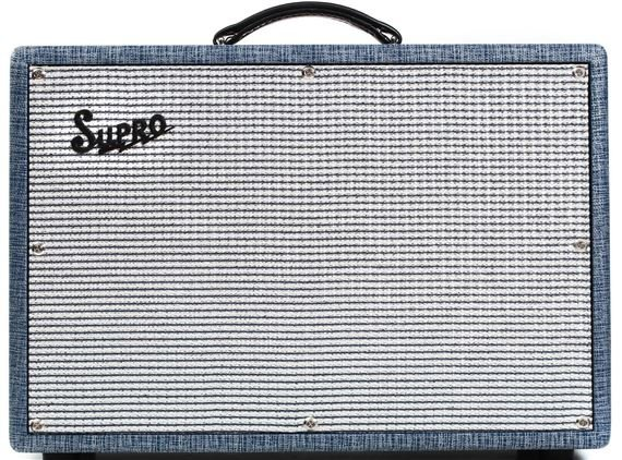 Supro Coronado 2 Channel Guitar Amplifier Combo 2x10 25 Watts