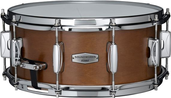 Tama Soundworks DKP146 6x14 Matte Brown Kapur Snare Drum